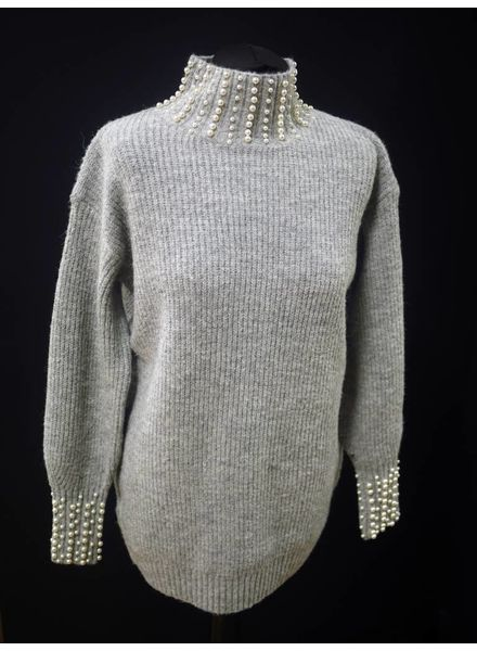 Flash Pearl cuff and collar Jumper