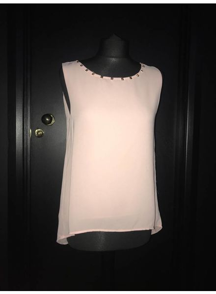 Flash Studded split back sleeveless top