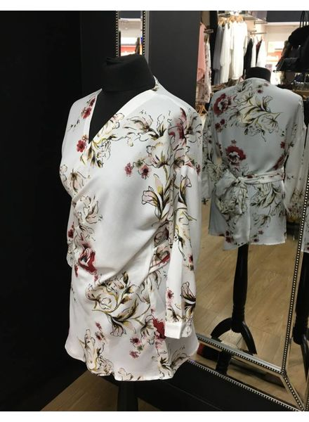 Flash Kim Floral Wrap Over Top