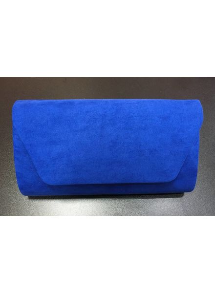 Faux Suede Clutch Bag