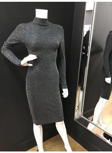 Lucy Lurex Long Sleeve Bodycon Dress