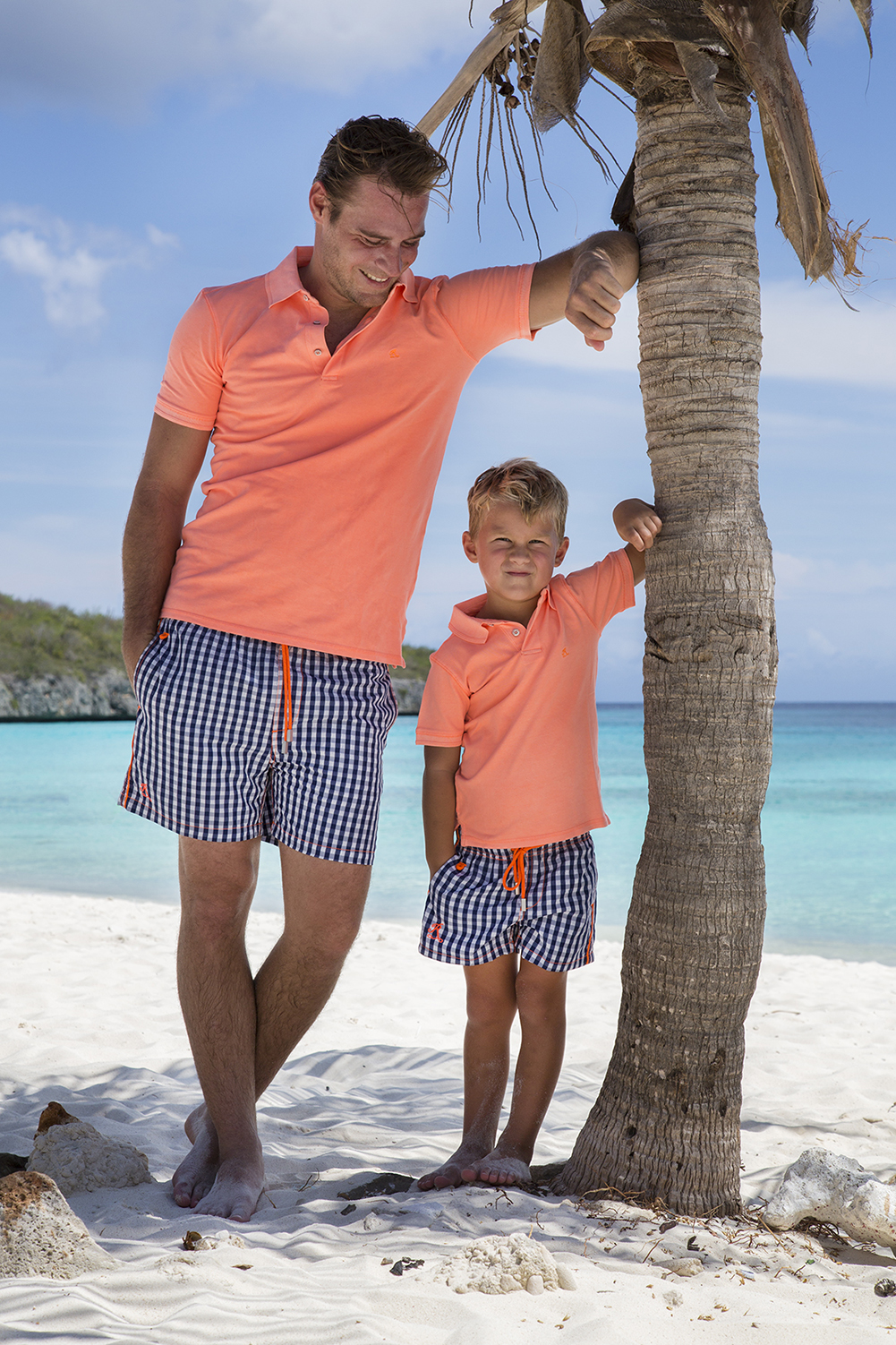 Polo South Beach und Badeshorts St. Barth