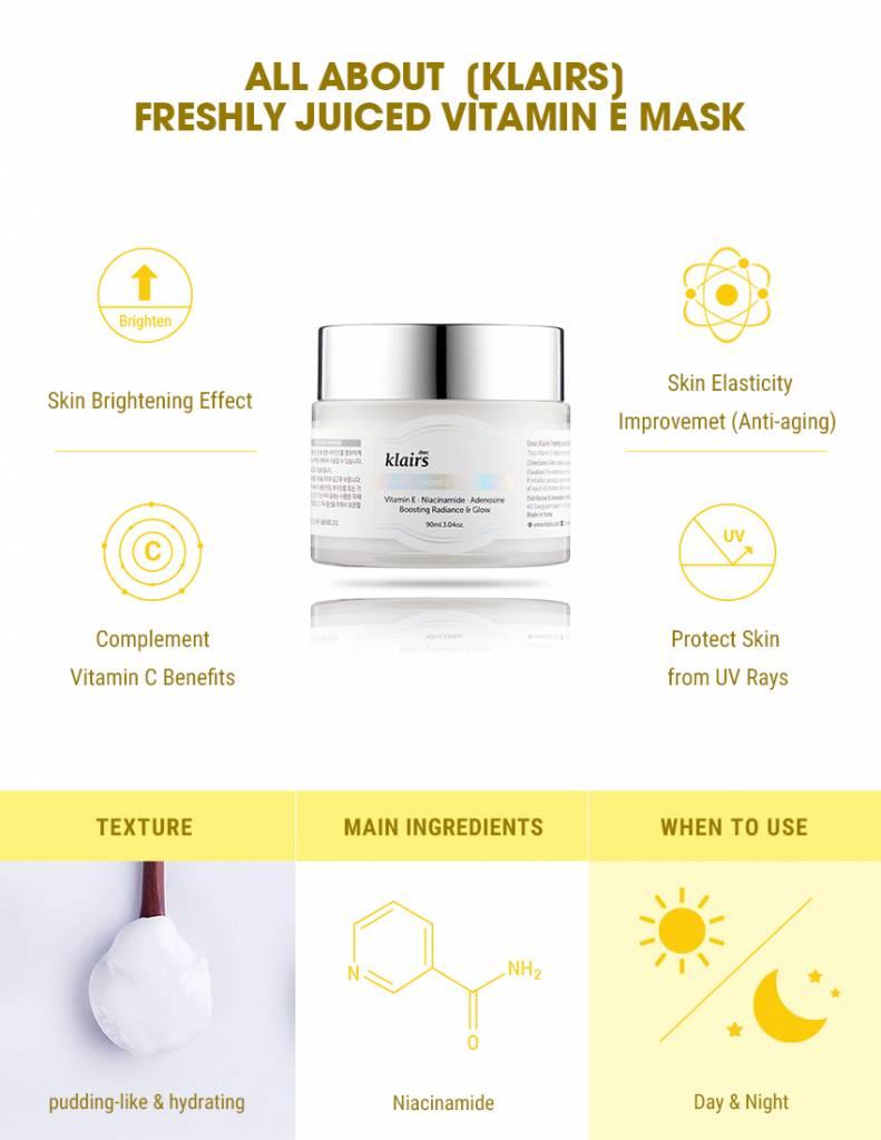 Image result for klairs freshly juiced vitamin e mask
