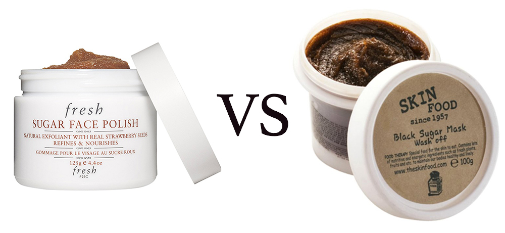 fresh vs skinfood black sugar mask