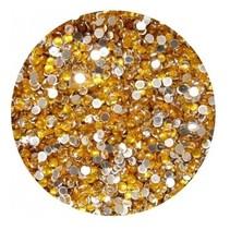 Strass steentjes Goud (ca 100 stuks)