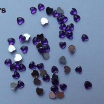 Strass steentjes HART, 6 kleuren