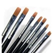 7 delige gel penselen set