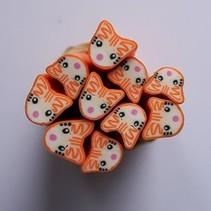 Nail art fimo Oranje kat