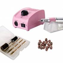 JSDA Nagelfrees JD200 roze + 100 schuurrolletjes