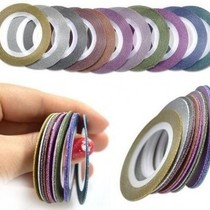 Striping tape Glitter Zwart
