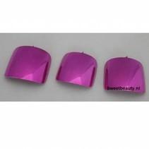 Teennagel tips metallic roze