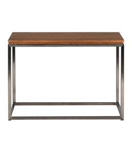 Oak Thin side table - stainless steel frame