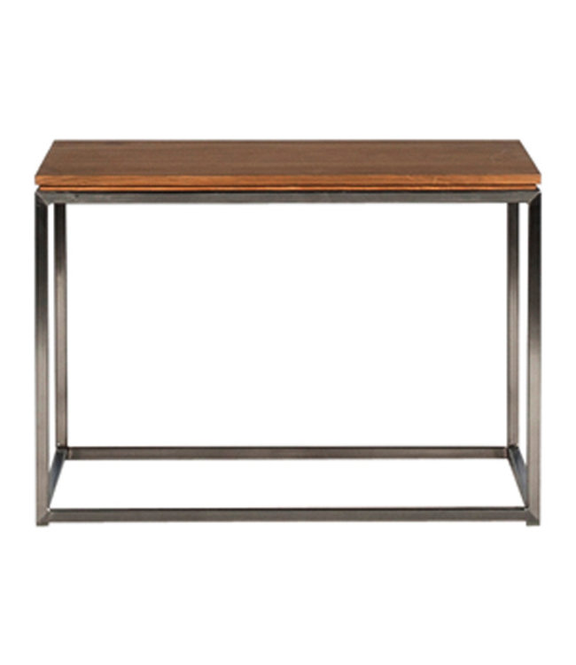 Ethnicraft Oak Oak Thin side table - stainless steel frame