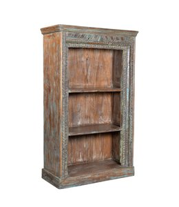 India - Old Furniture Large Carved Bookcase