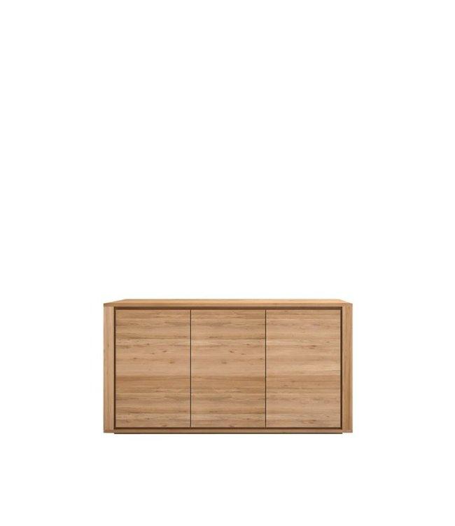 Oak Shadow sideboard - 4 doors