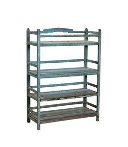 Blue Indian Painted Display Rack