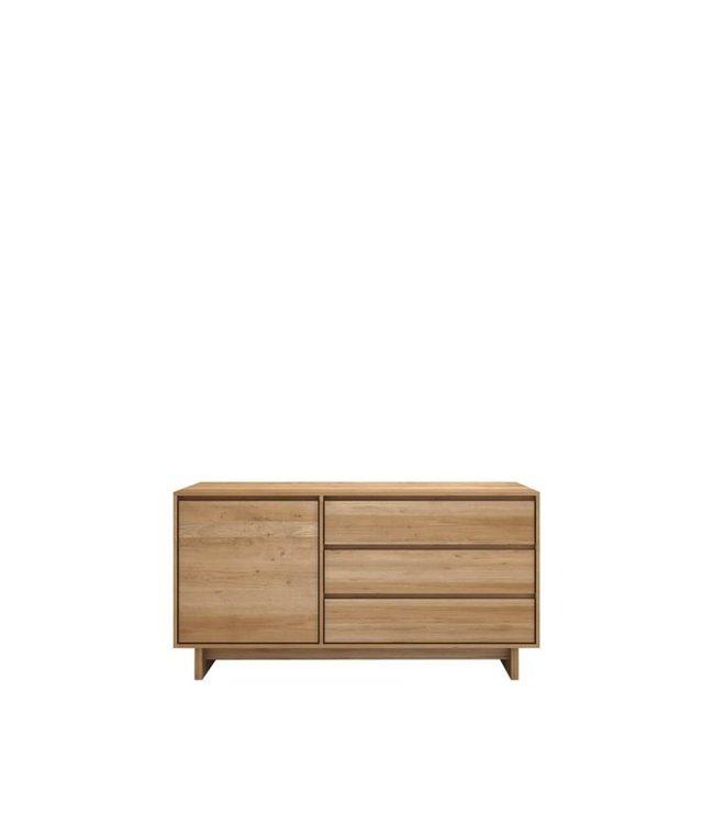 Ethnicraft Oak Oak Wave sideboard - 1 door 3 drawers