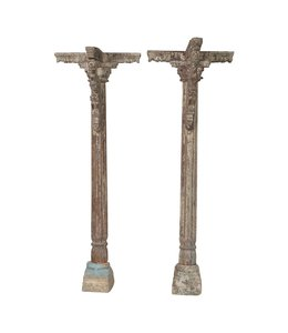 India - Handicrafts Pair of Oiginal Pillars