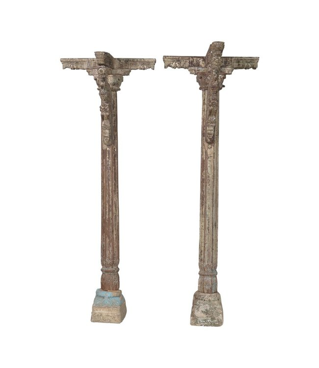India - Handicrafts Pair of Oiginal Pillars