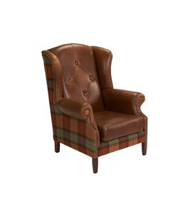 Worth Furnishing Wingchair Leather & Wool