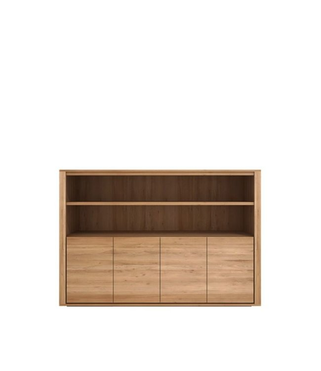 Oak Shadow sideboard high - 4 doors
