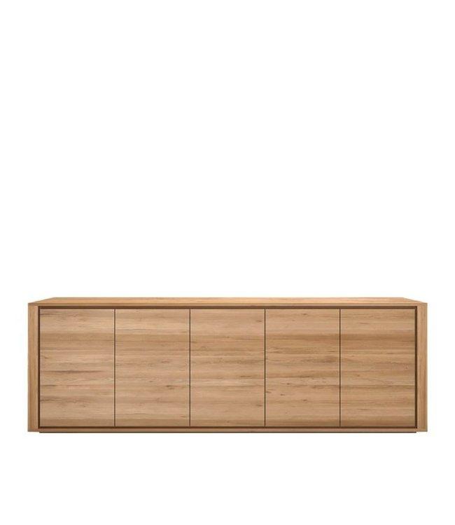Oak Shadow sideboard<br>5 doors</br>