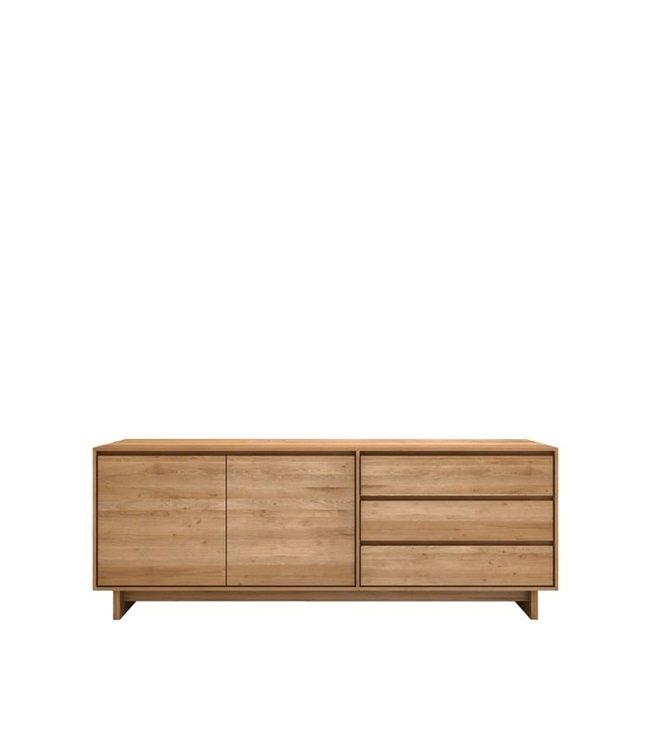 Oak Wave sideboard - 2 door 3 drawers