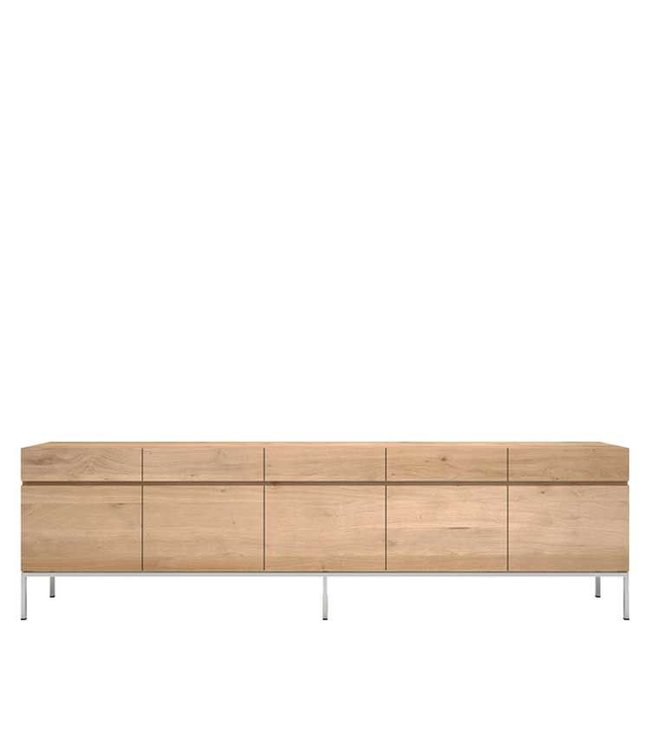 Oak Ligna sideboard - 5 doors / 5 drawers