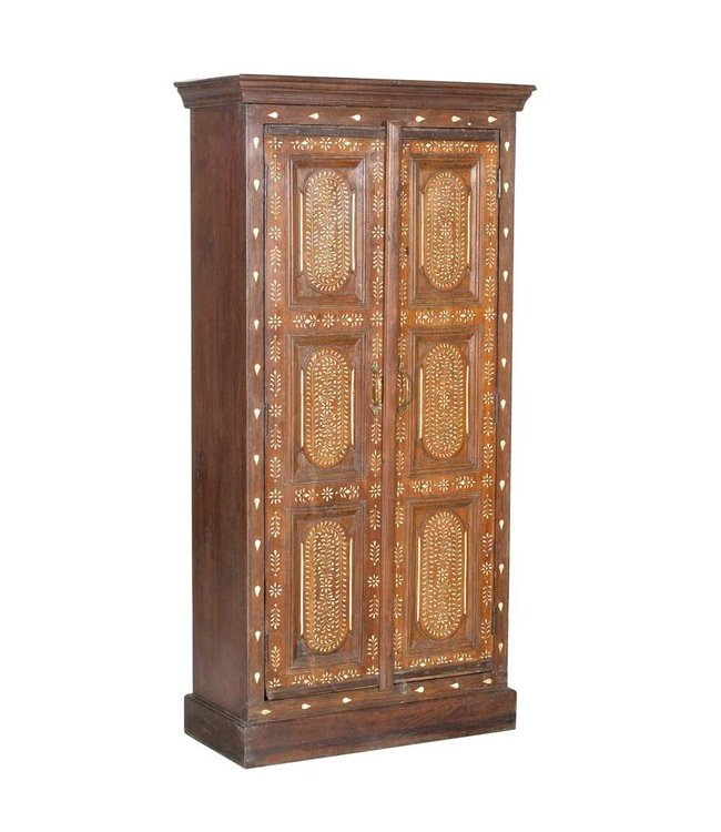 India - Old Furniture Indian Cabinet with Bone Inlay