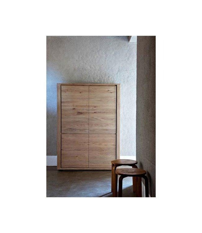 Ethnicraft Oak Oak Shadow storage cupboard - 4 doors
