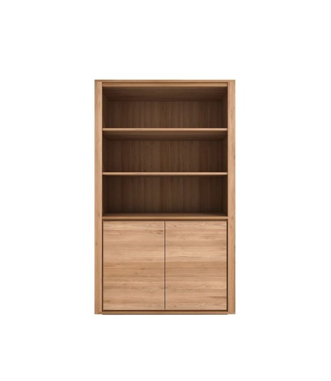 Oak Shadow book rack - 2 doors