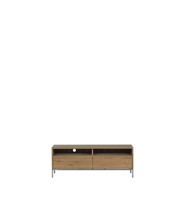 Oak Ligna TV cupboard  - 2 drawers
