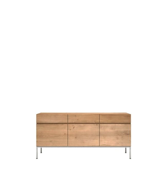 Ethnicraft Oak Oak Ligna sideboard - 3 doors / 3 drawers