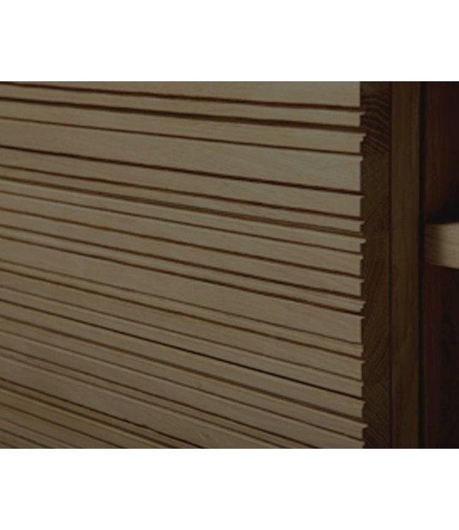 Oak Stonecut sideboard  - 3 doors