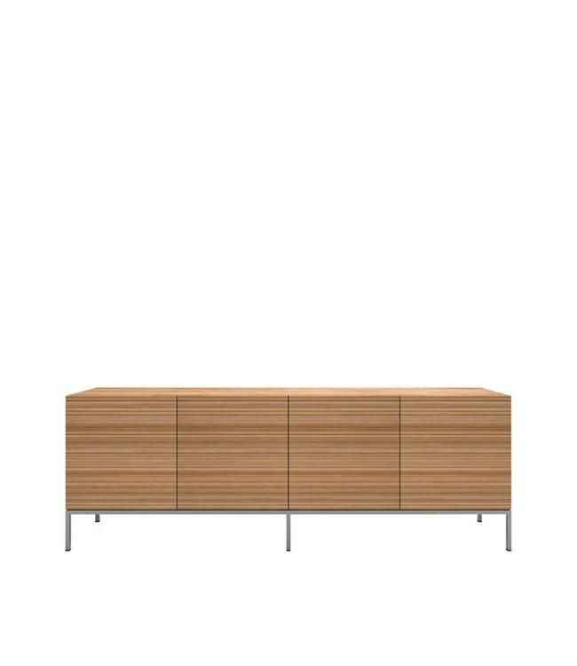 Oak Stonecut sideboard - 4 doors