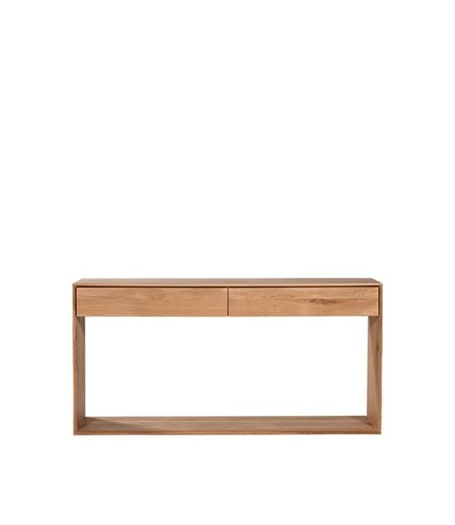 Oak Nordic console - 2 drawers - 160cms