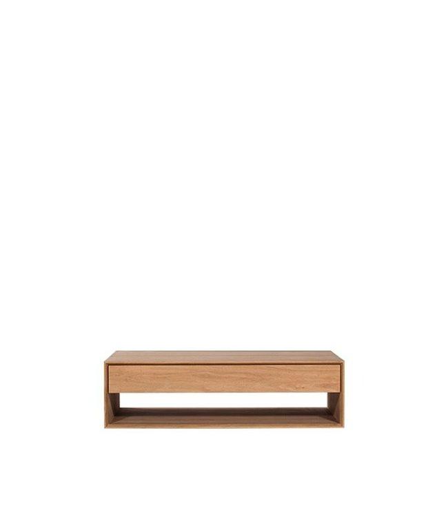 Oak Nordic coffee table – 1 drawer