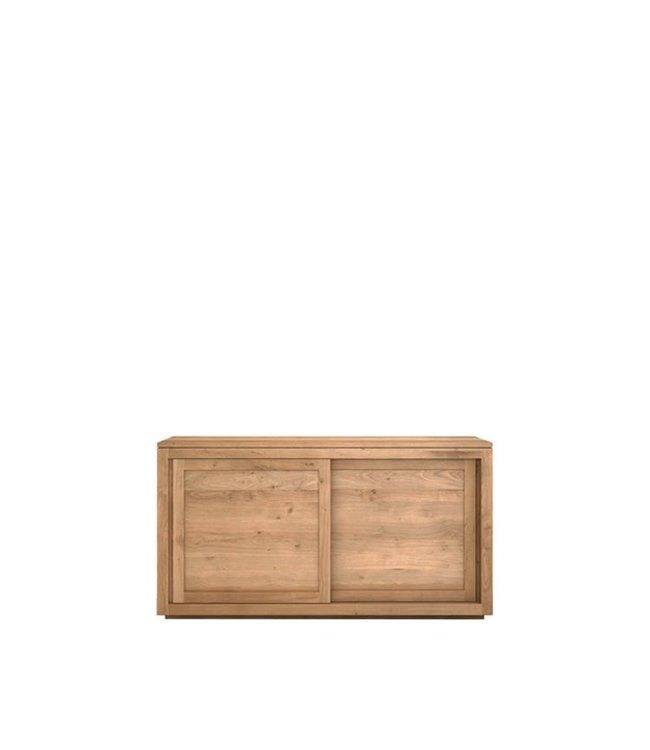 Oak Pure sideboard - 2 sliding doors