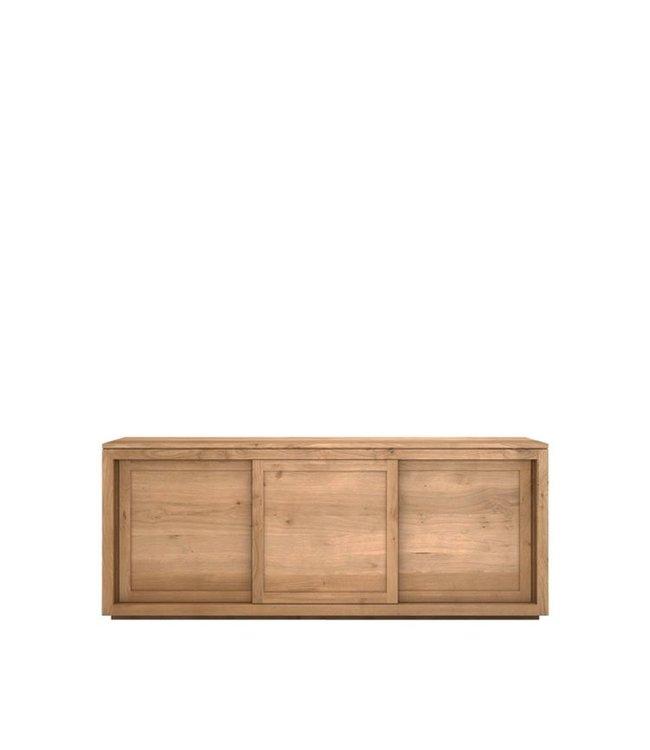 Ethnicraft Oak Oak Pure sideboard - 3 sliding doors