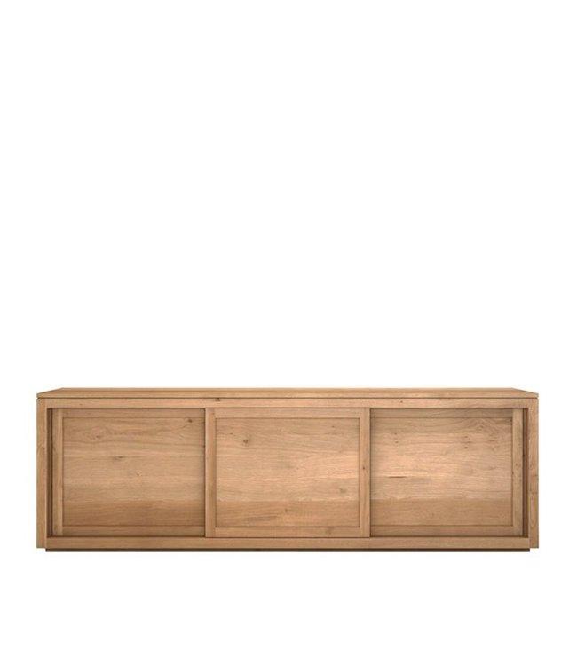 Oak Pure sideboard - 3 sliding doors