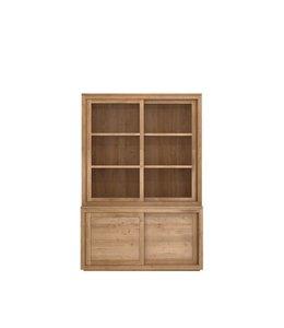 Oak Pure top - 2 sliding glass doors