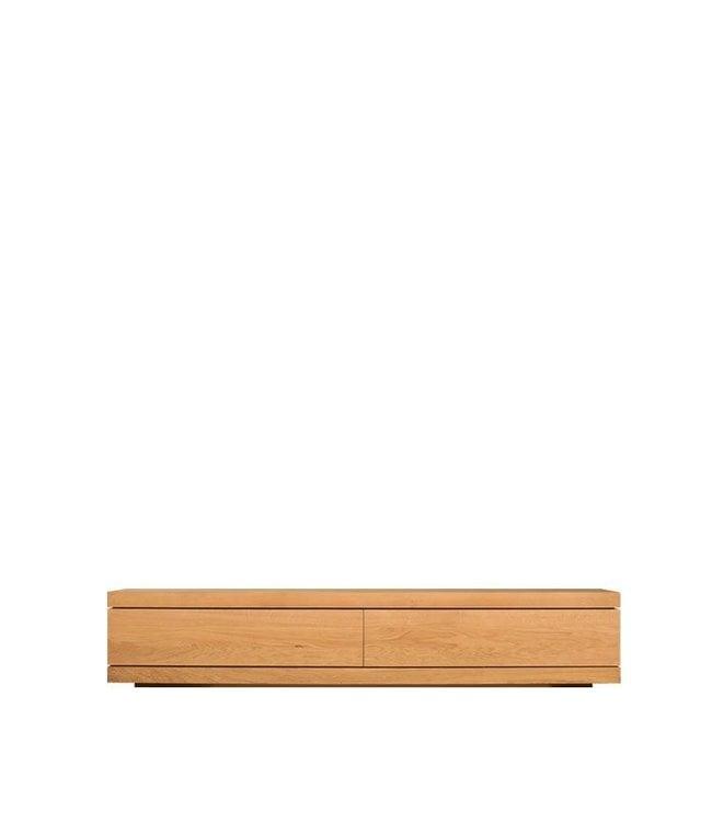 Oak Burger TV cupboard low - 1 flip-down door / 1 drawer