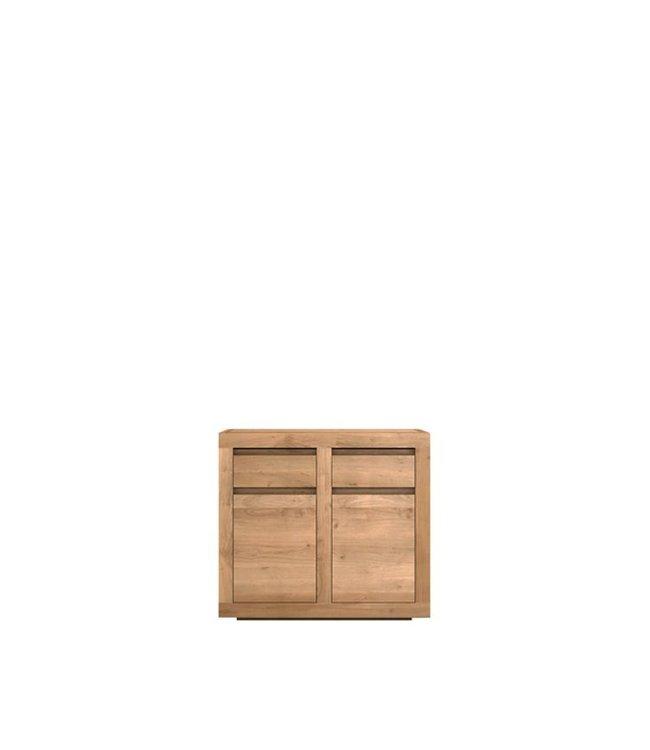 Oak Flat sideboard - 2 doors / 2 drawers