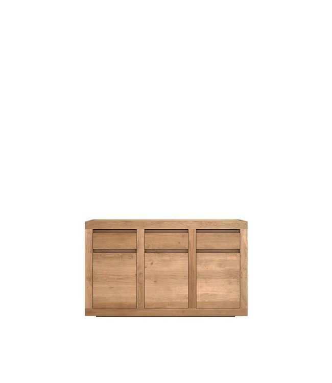 Oak Flat sideboard - 3 doors / 3 drawers