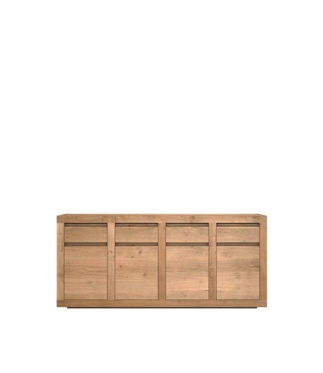 Oak Flat sideboard - 4 doors / 4 drawers