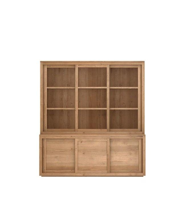 Oak Pure top - 3 sliding glass doors