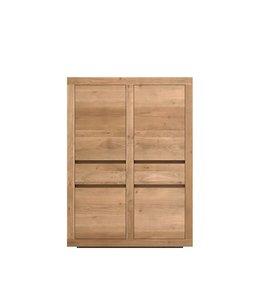 Ethnicraft Oak Oak Flat storage cupboard - 4 doors / 2 drawers