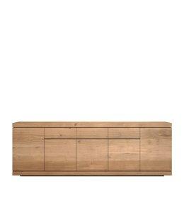 Oak Burger sideboard - 5 opening doors / 3 drawers