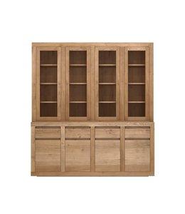 Oak Flat cupboard - 8 doors / 4 drawers