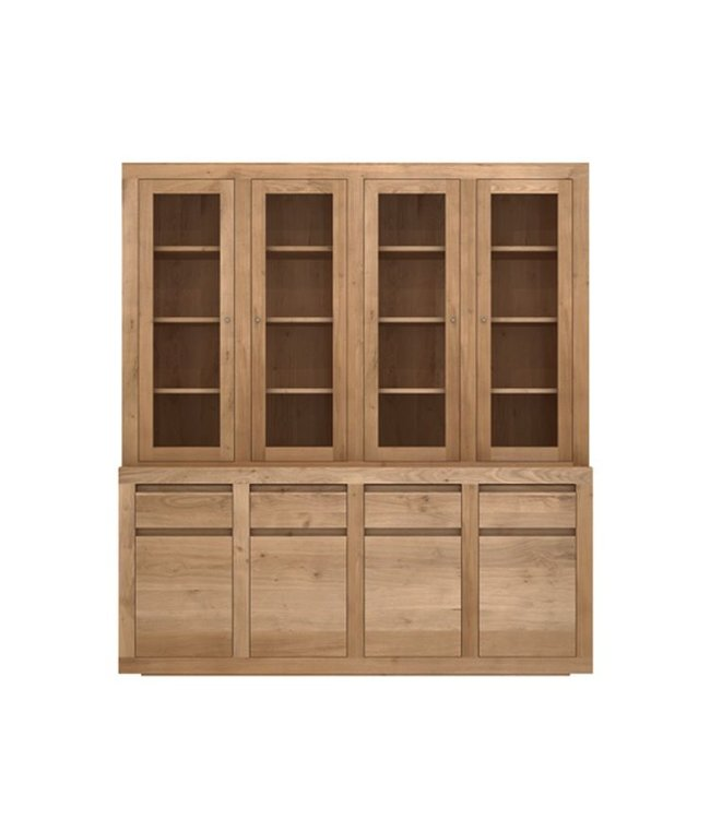 Oak Flat cupboard - 8 doors / 4 drawers